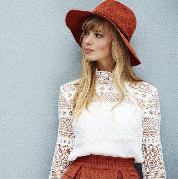 model hat other side